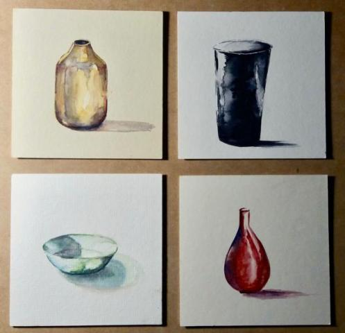 Pottery Watercolor Art
